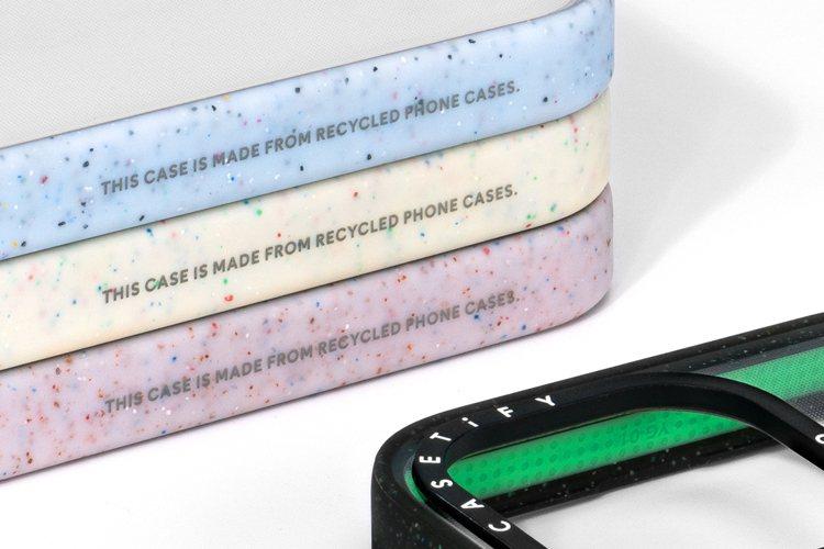 CASETiFY防摔再造手機殼於製程中省略拋光步驟以減少20%碳排放,完整保留原...
