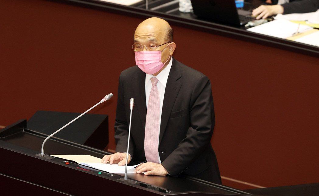 行政院長蘇貞昌。記者杜建重/攝影