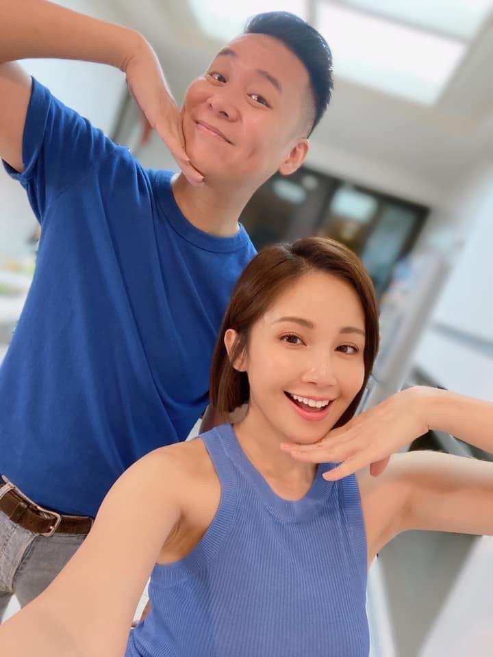 鍾欣怡(右)和老公孫樂欣一起經營直播事業。圖/摘自臉書