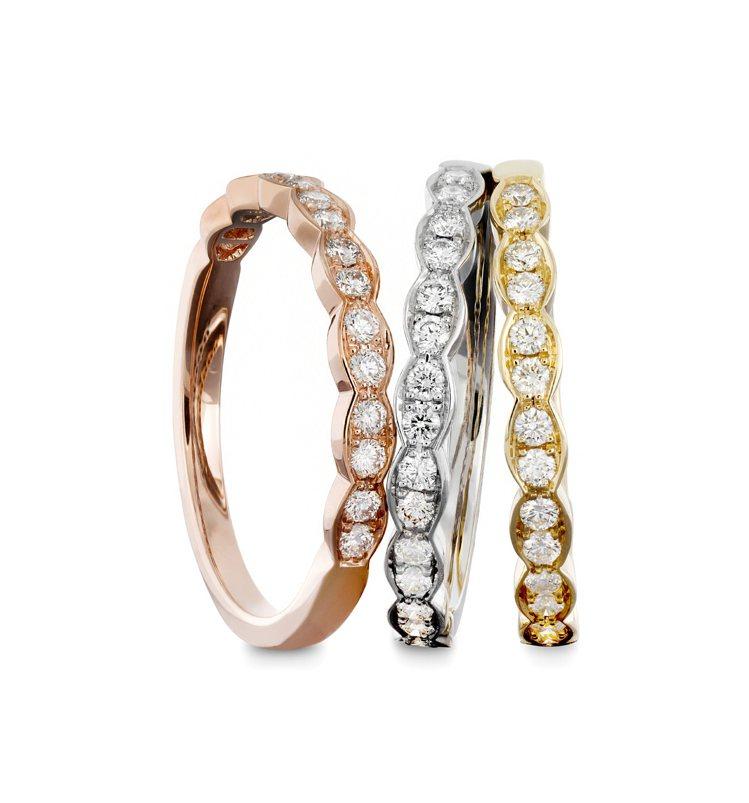 Lorelei Floral鑽石戒指,單只55,000元起。圖/Hearts O...