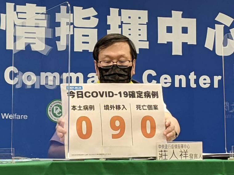 莊人祥說,國內新增9例COVID-19確定病例,均為境外移入;另確診個案中無新增...