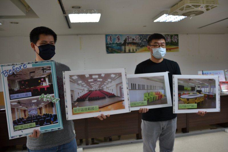 台南市教育局將學校視聽教室優質化,營造舒適優質的學習及集會環境。記者鄭惠仁/攝影