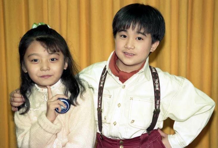 左為蔡亞臻童星時期的照片。圖/聯合報系資料照片