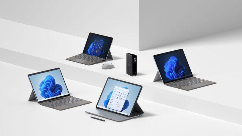 微軟發表一系列專為Windows 11打造的Surface新機及全新配件,為企業、創意工作者、遊戲玩家及家庭使用者提供更靈活應用及強大效能。微軟/提供