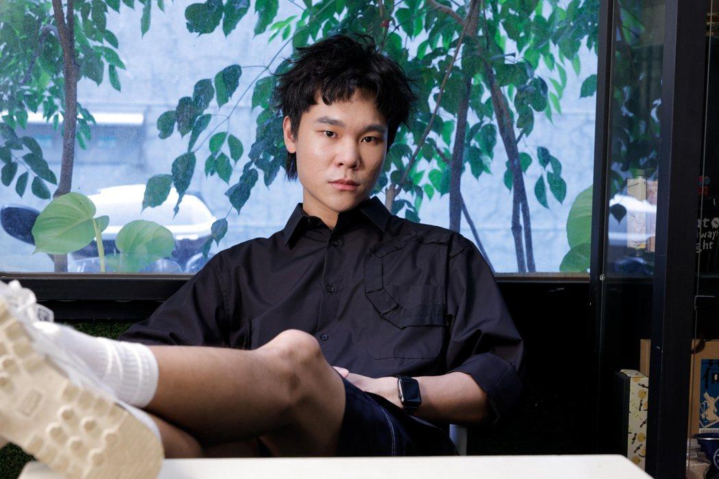 蔡明仁表示之所以想當創作歌手,是受周杰倫薰陶。記者李政龍/攝影