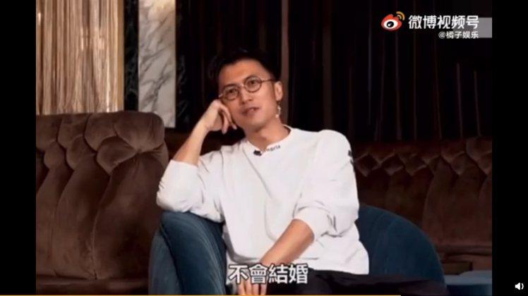 謝霆鋒近日受訪時直言:「我不會結婚」 圖/擷自weibo。