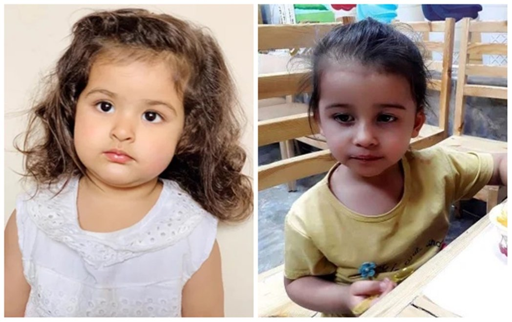 本次事件其中兩名罹難兒童的照片,圖左為兩歲的Sumaia,右為2歲的Malika...