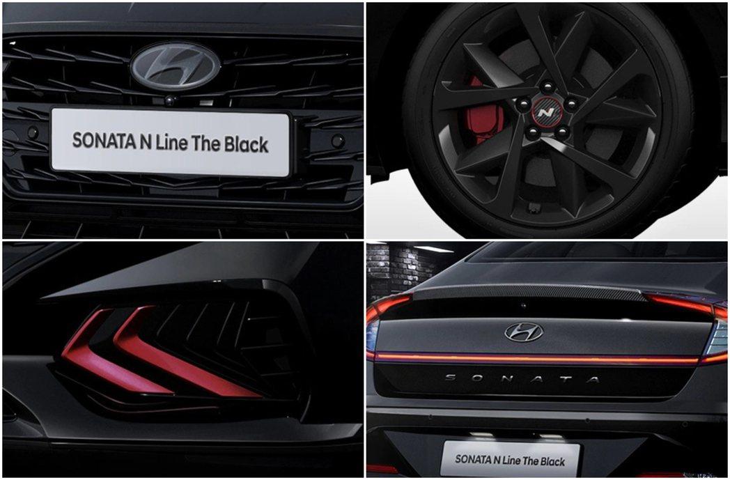 Hyundai Sonata N Line The Black外觀包括廠徽皆是以...