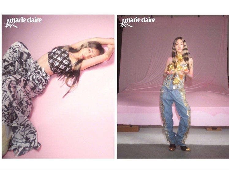 關於周迅左邊的照片,有網友表示「這個小蠻腰是我不用花錢就能免費看的嗎」。圖/取自...
