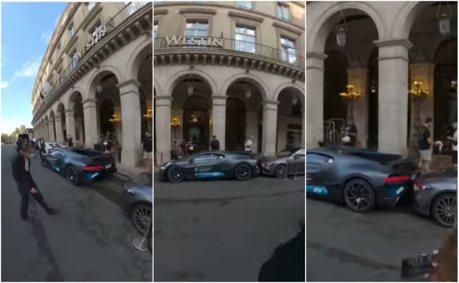Bugatti Divo倒車撞上Mercedes-Benz CLS 小傷痕也要天價修復!