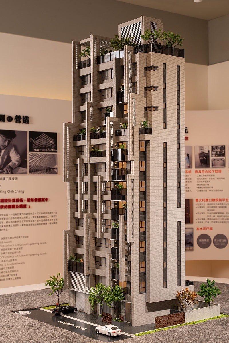 「璞園袖里春」建築模型。 業者/提供
