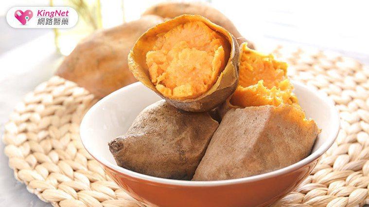 紅地瓜是一種富含纖維和維生素A的健康碳水化合物。圖/KingNet 國家網路醫藥