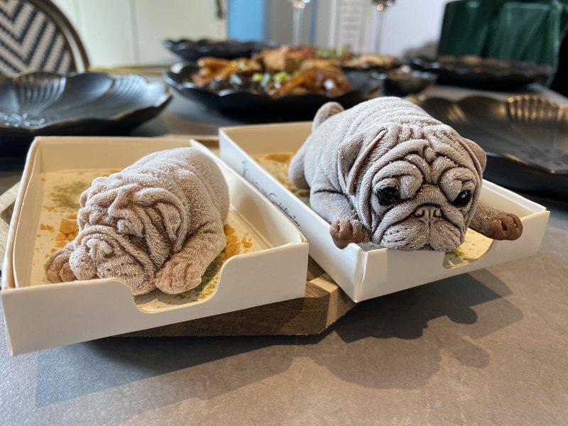 J.C. co藝術廚房開發超逼真的狗狗冰淇淋,如今在屏東勝利星村也能品嘗。記者劉星君/攝影