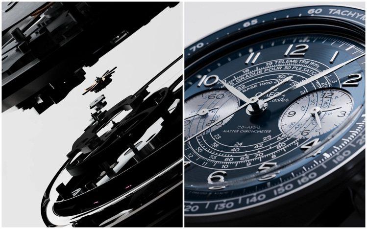 歐米茄超霸chronoscope計時碼表宛如化身時間的觀察大師,從細微處洞見真實...