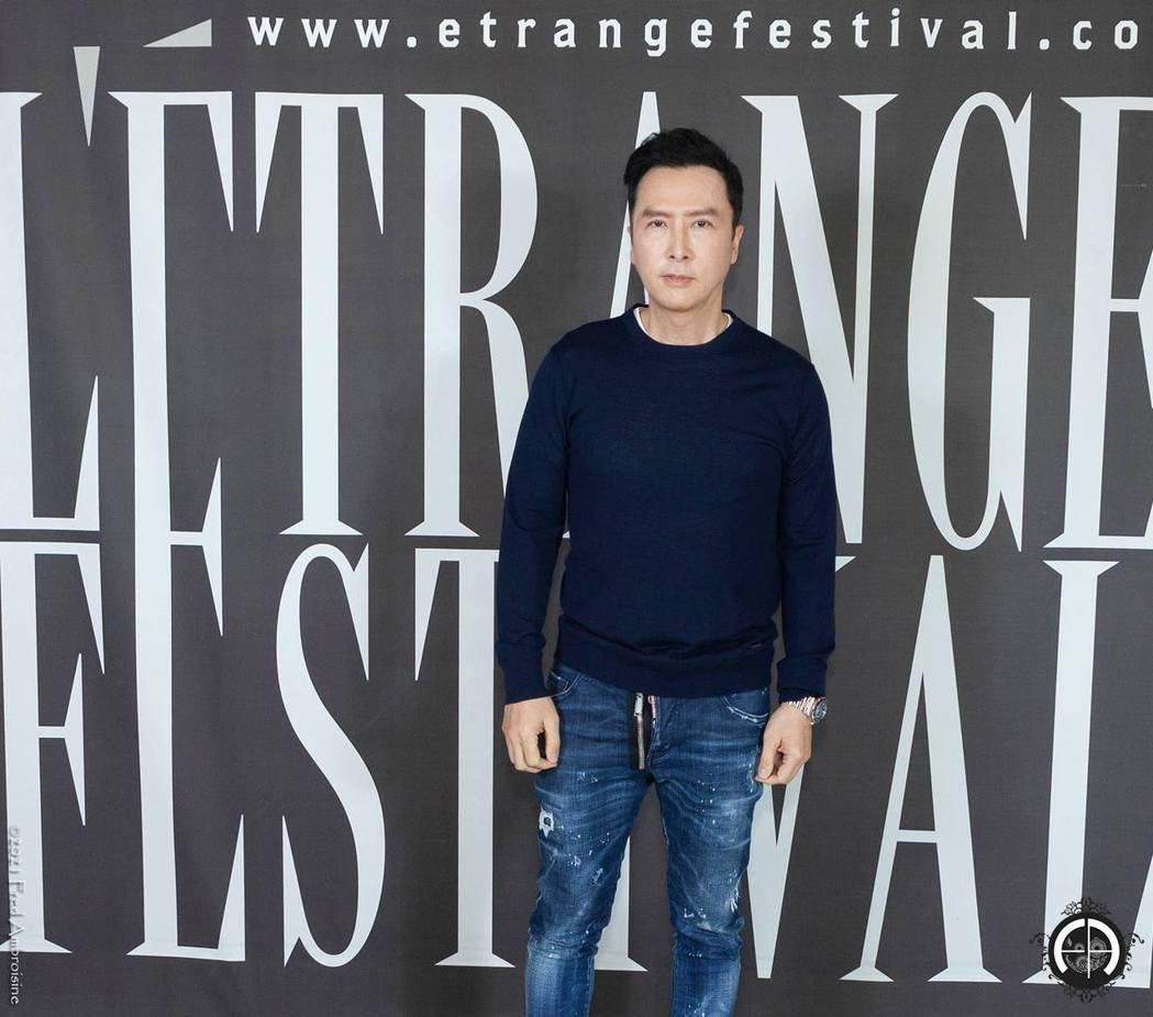 甄子丹日前參加「怒火」在法國電影節的映後會。圖/華映提供