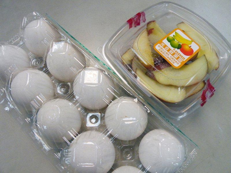 目前不少雞蛋盒、水果盒使用PLA材質,擔心PLA混入一般塑膠影響末端塑膠再利用,環署舉行諮詢會議,廣聽建言。圖/聯合報系資料照片