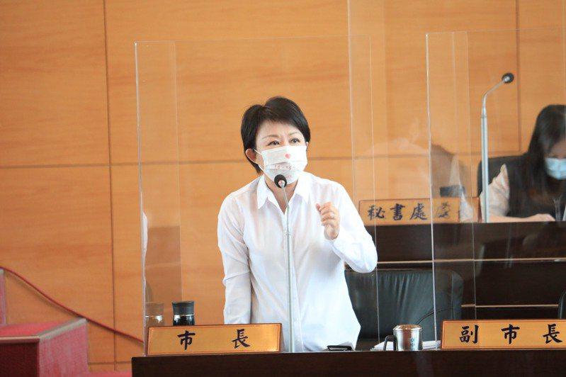 台中市長盧秀燕發表「2021台中市自願檢視報告」,針對聯合國城市永續發展目標,提出對環保、社會、經濟面向的計畫。 記者喻文玟/攝影