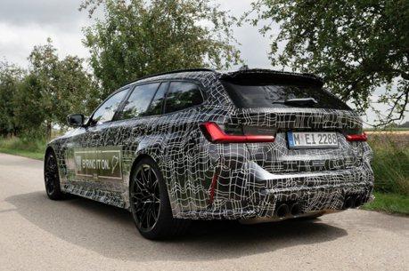 原廠又放照片出來聞香! 全新BMW M3 Touring「性能碗公」明年正式登場