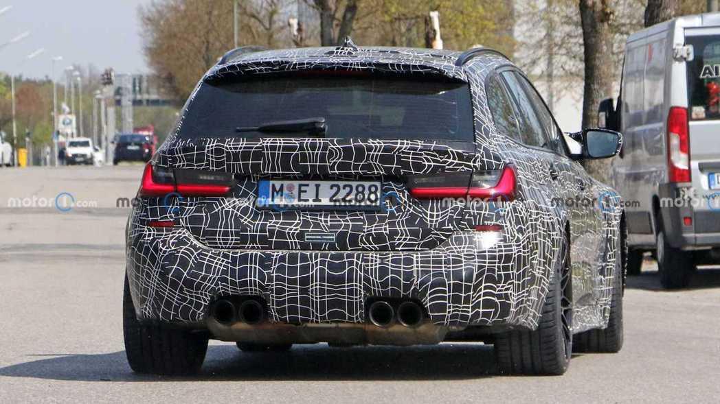 全新BMW M3 Touring偽裝測試車。 摘自Motor 1