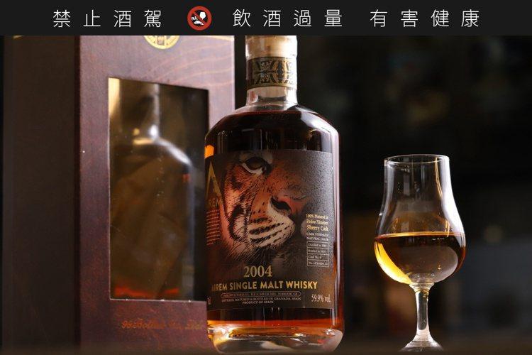 空靈酒莊單一麥芽威士忌原酒 PX雪莉桶「虎臉」限量221瓶,客製化前標相當霸氣。...