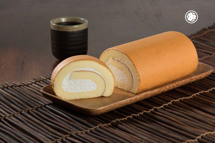 李桑菓子工房的原味生乳蛋糕捲。圖/業者提供