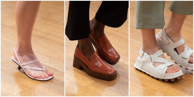 誇張的美學比例,更和本季小貓跟尖頭鞋的淑女印象擦出鮮明對比。圖 / TOD...