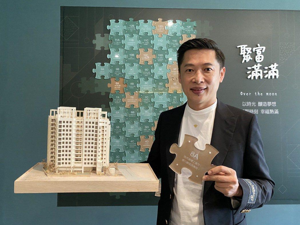 聚富建設董事長黃承浩認為,台中房價會「新北化」,不斷攀升。記者趙容萱/攝影