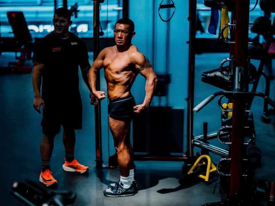 杜汶澤健身有成,原本期盼明年參加健身比賽。 圖/擷自杜汶澤臉書
