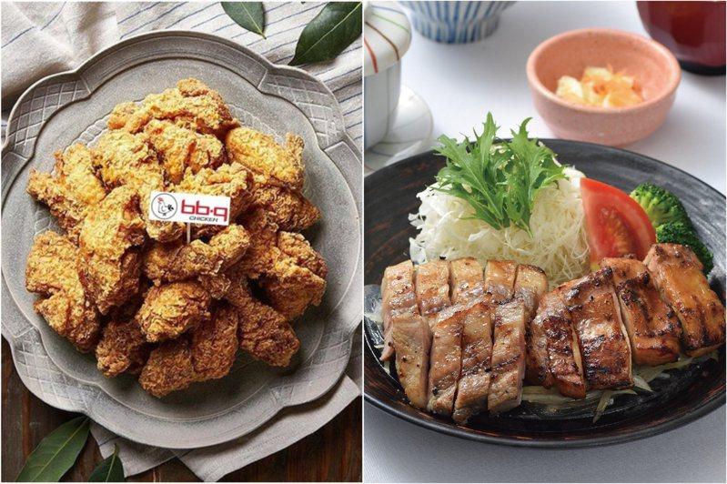 餐點示意圖。圖/「bb.q CHICKEN Taiwan」粉絲頁、大戶屋臉書專頁