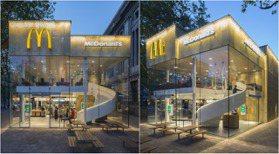 透明玻璃屋「麥當勞」美瘋!閃亮時尚建築&旋轉樓梯,最豪華的速食體驗
