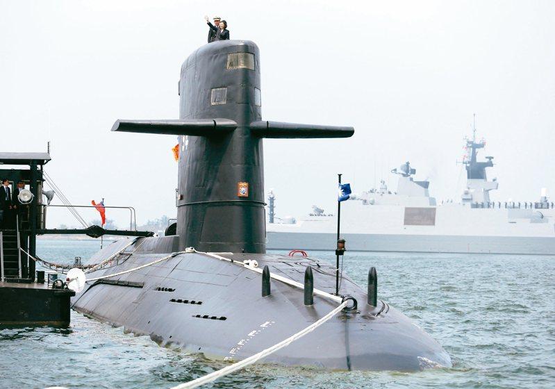 海軍委託台船生產設計國造潛艦,11月將舉行安放龍骨儀式。示意圖。圖/聯合報系資料照片