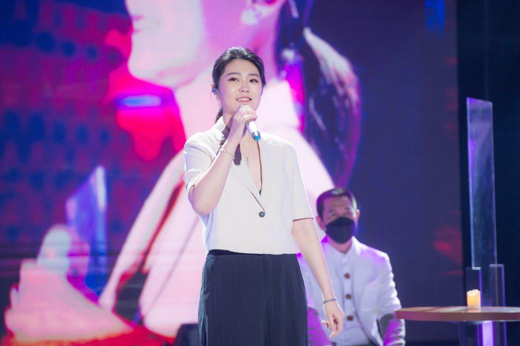 曹雅雯容易緊張,比賽時還沒唱進前百就被淘汰。圖/TVBS提供