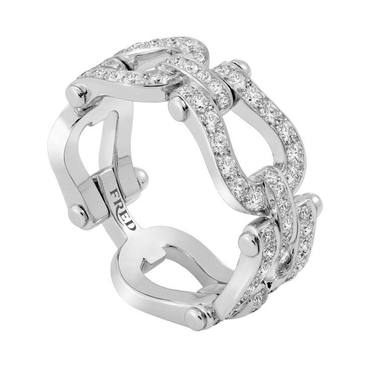 FRED Force 10白金鑽石戒指,27萬1,500元。圖/斐登提供