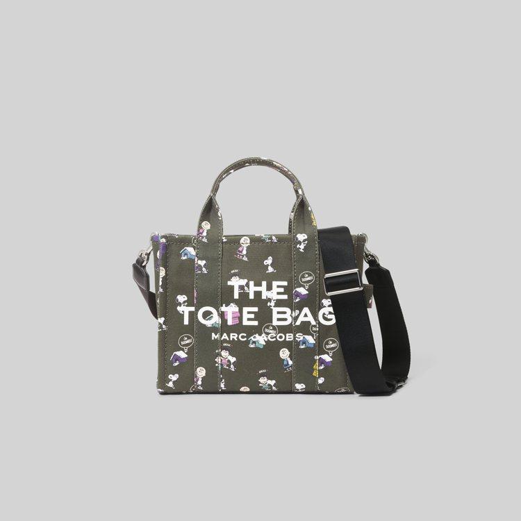 橄欖綠The peanuts家族人物圖案迷你The Tote Bag,11,90...