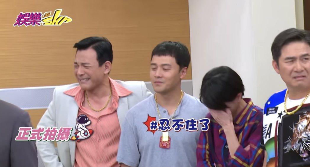 胡鴻達(左起)自爆常憋笑憋到哭,讓黃文星、楚宣、洪都拉斯都驚呆。圖/民視提供