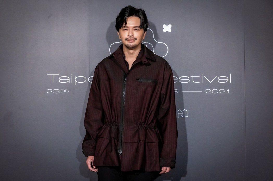 江常輝一場戲在寒冷的夜裡吹著風淋著雨拍攝,冷到吐。圖/台北電影節提供