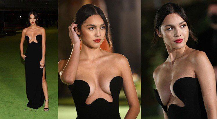 女星Olivia Rodrigo現身奧斯卡電影博物館開幕派對。圖/摘自twitt...