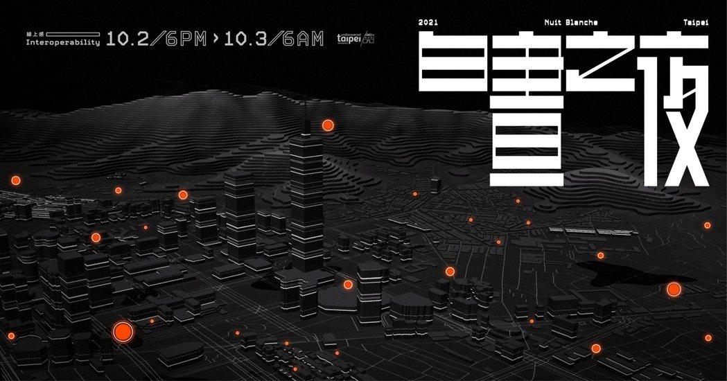2021臺北白晝之夜「線上感 Interoperability」於10月2日晚上...