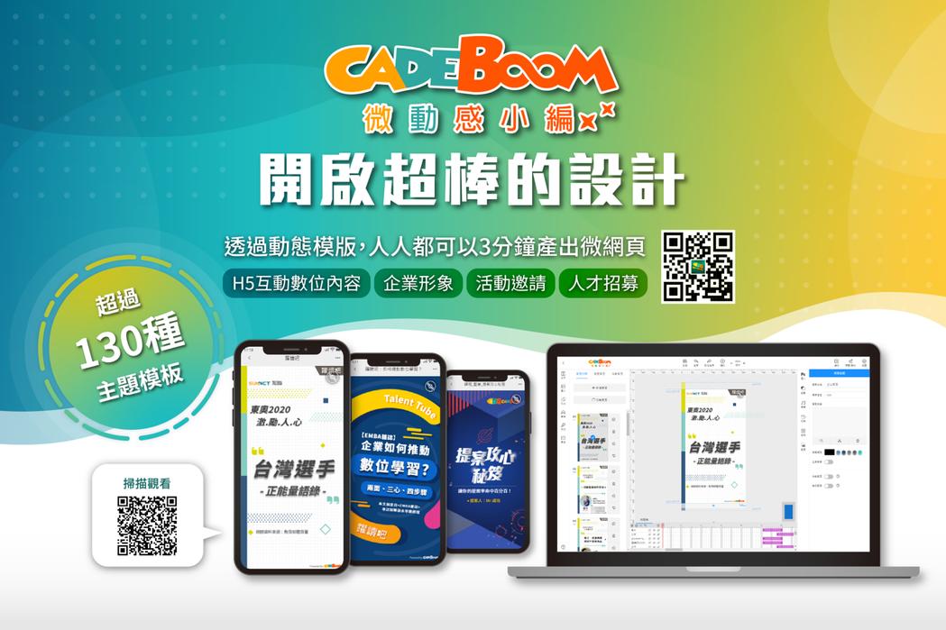 「CaDeBoom微課程小編」輕鬆打造生動多元的微學習教材。 旭聯科技/提供