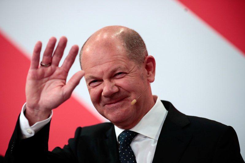 代表社民黨(SPD)參選的蕭茲。(路透)