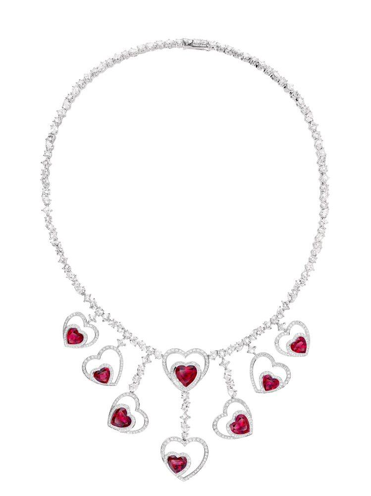Pretty Woman Audacious紅碧璽鑽石項鍊,741萬6,700元...