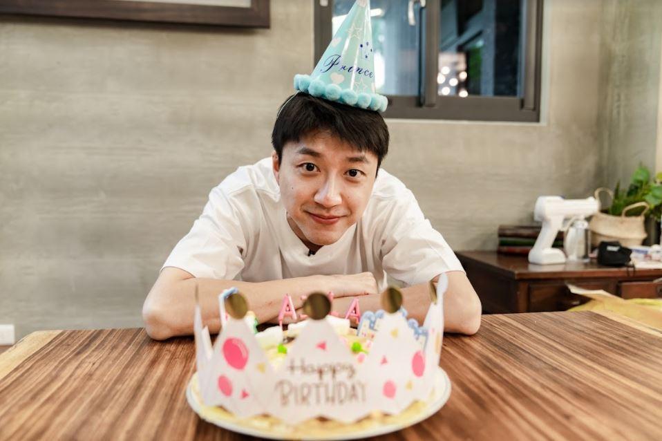 江宏傑為了女兒生日親手做蛋糕。圖/好看娛樂提供