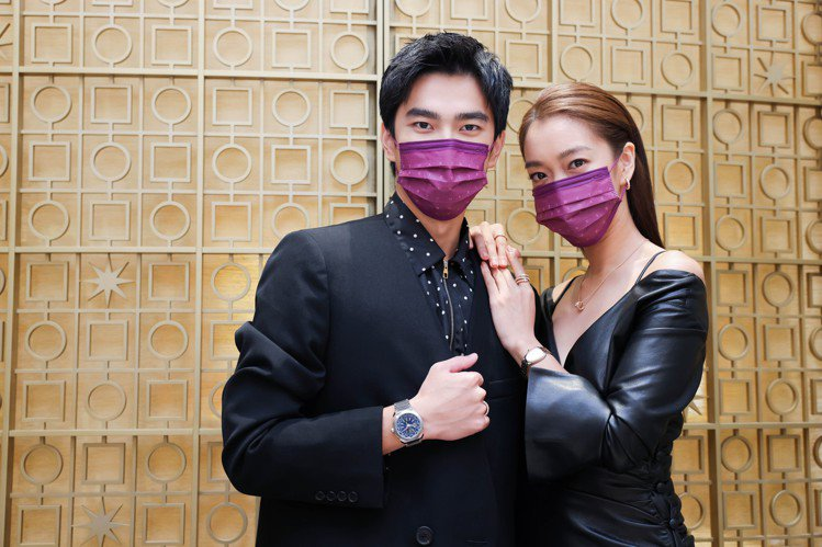 曾敬驊與李霈瑜出席寶格麗2021年度腕表鑑賞會。記者吳致碩/攝影