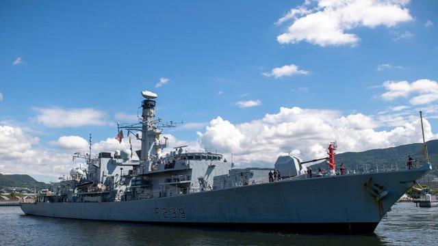 英國里士滿(HMS Richmond)號護衛艦。(里士满號官方推特)
