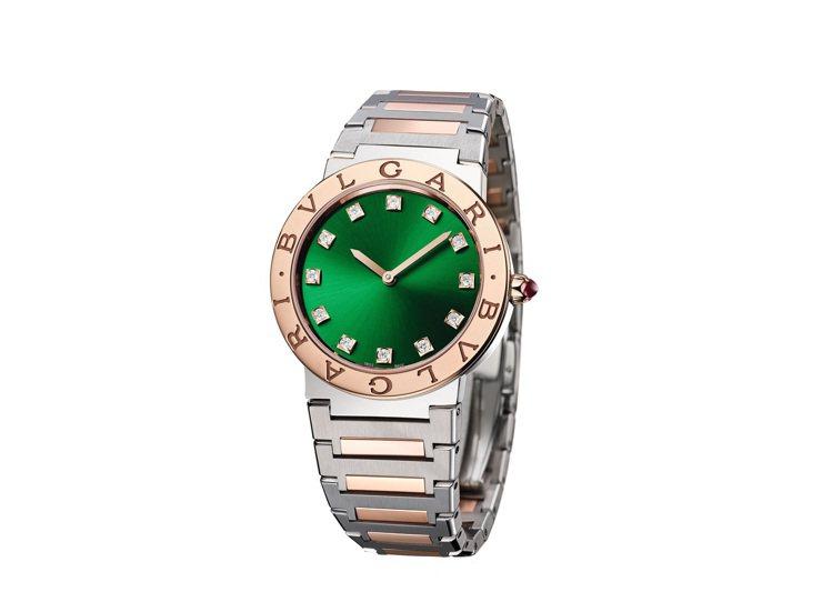 BVLGARI BVLGARI精鋼與玫瑰金腕表,約29萬5,700元。圖/寶格麗...