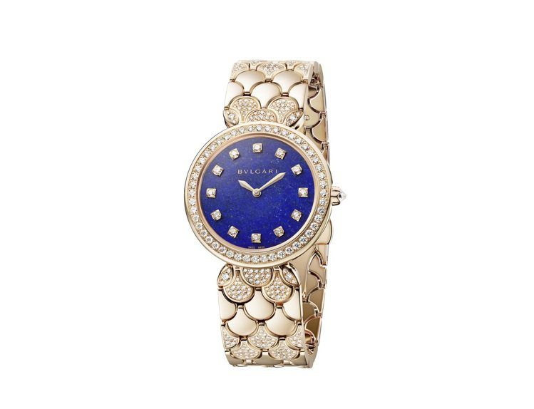 DIVAS' DREAM系列珠寶腕表青金石款,約152萬3,000元。圖/寶格麗...