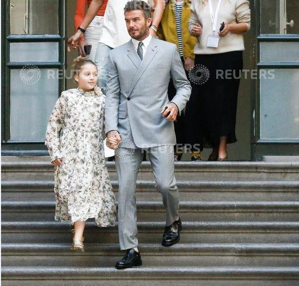 貝克漢是DIOR西裝愛好者。圖/DIOR提供