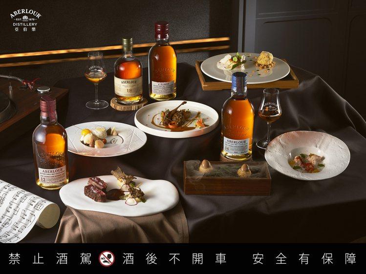 亞伯樂聯手米其林一星法式餐廳「de nuit」,打造「伯樂聆感夜」雙桶品酩會。圖...