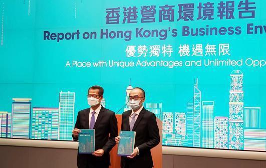 香港政府27日發布「香港營商環境報告」指出,隨著「香港國安法」實施,讓香港社會恢...