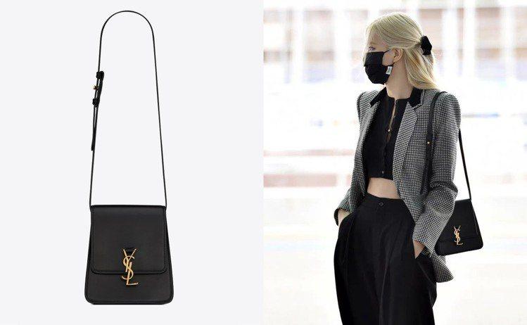 ROSE朴彩英以一身黑白配展示機場時尚,肩上的包款再度提前預告新一季的熱門款式,...